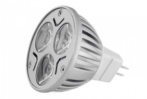 Bilde av LED pære 3x1 Watt, MR16, 12 V